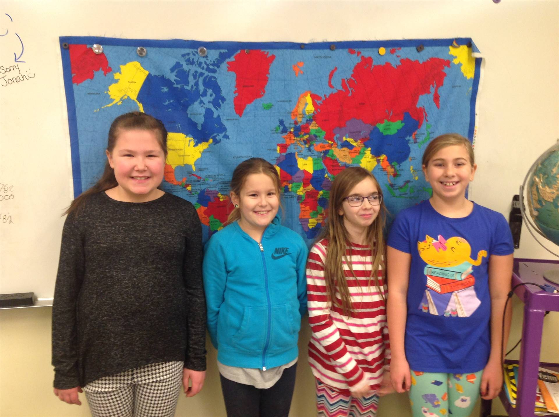 4th Grade Geography Bee Contestants