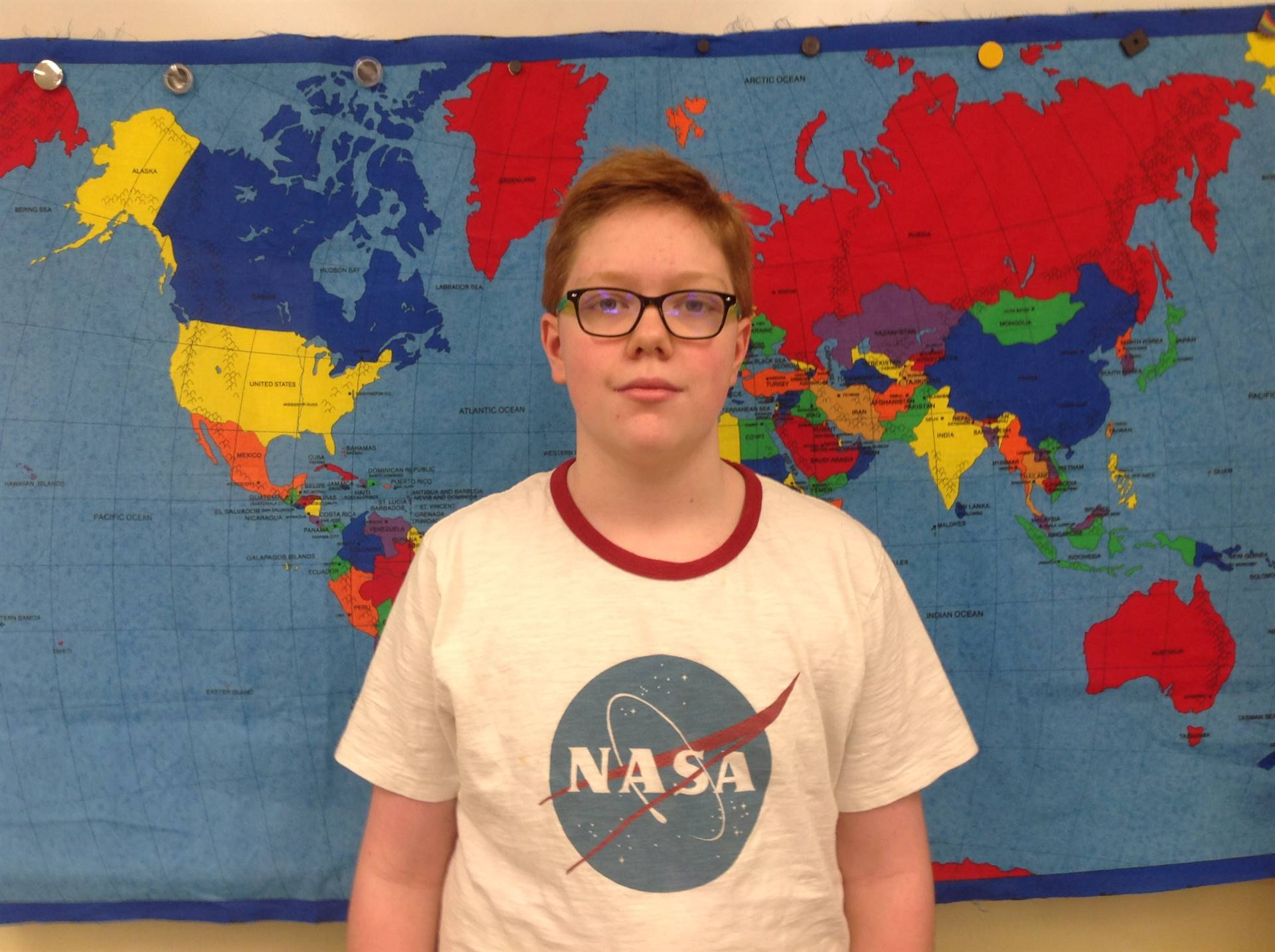 6th Grader who Participated in Geography Bee