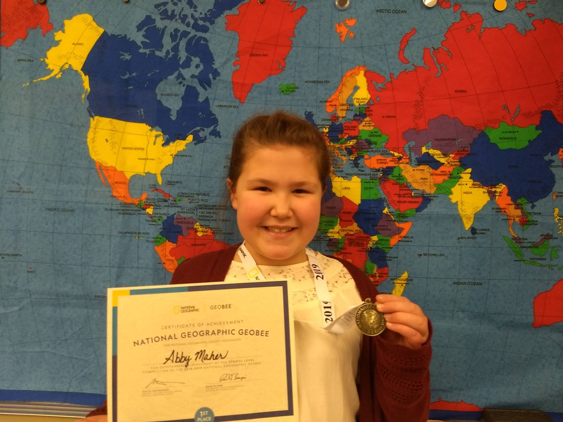 1st Place in Geography Bee