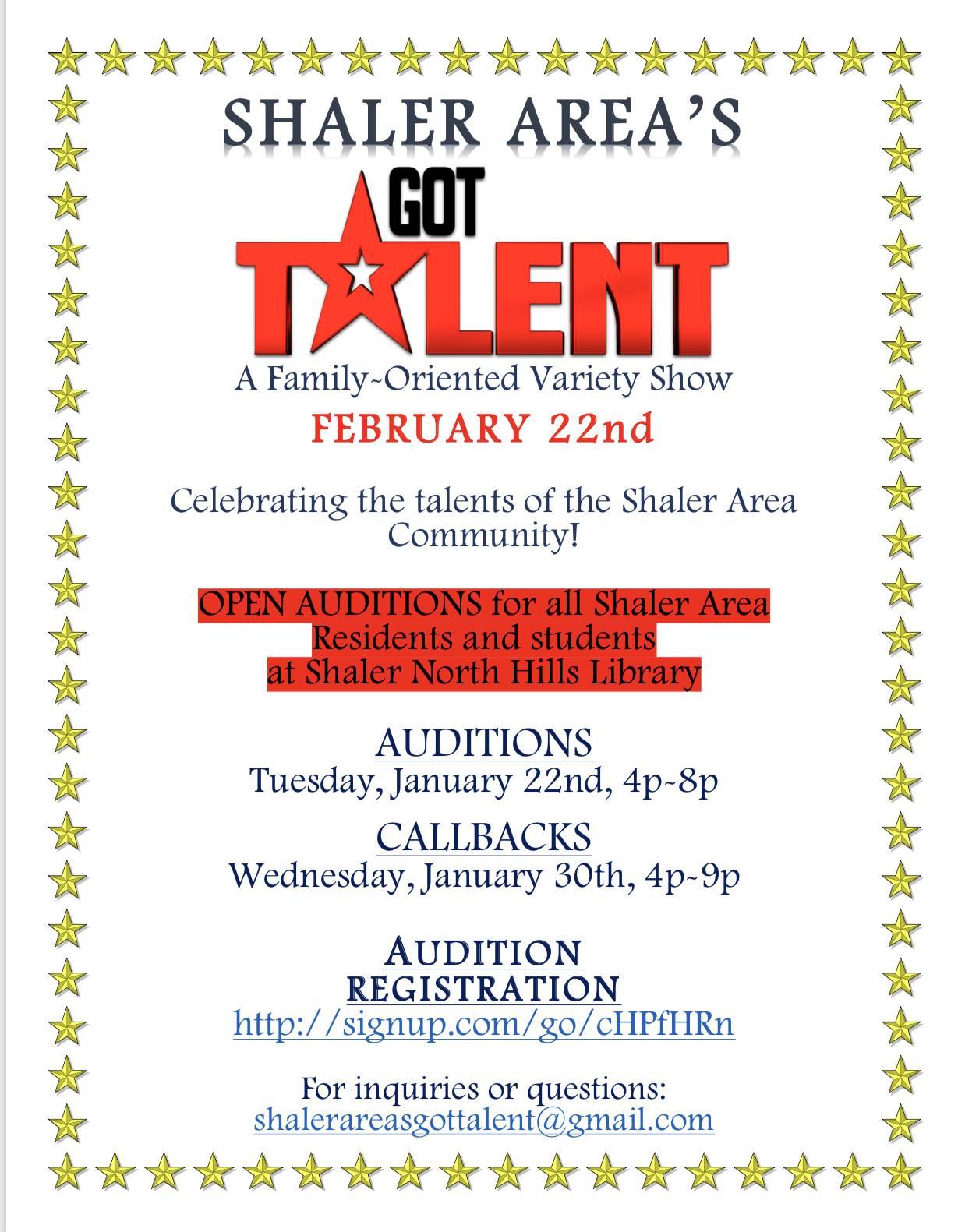 Shaler Area's Got Talent Auditions