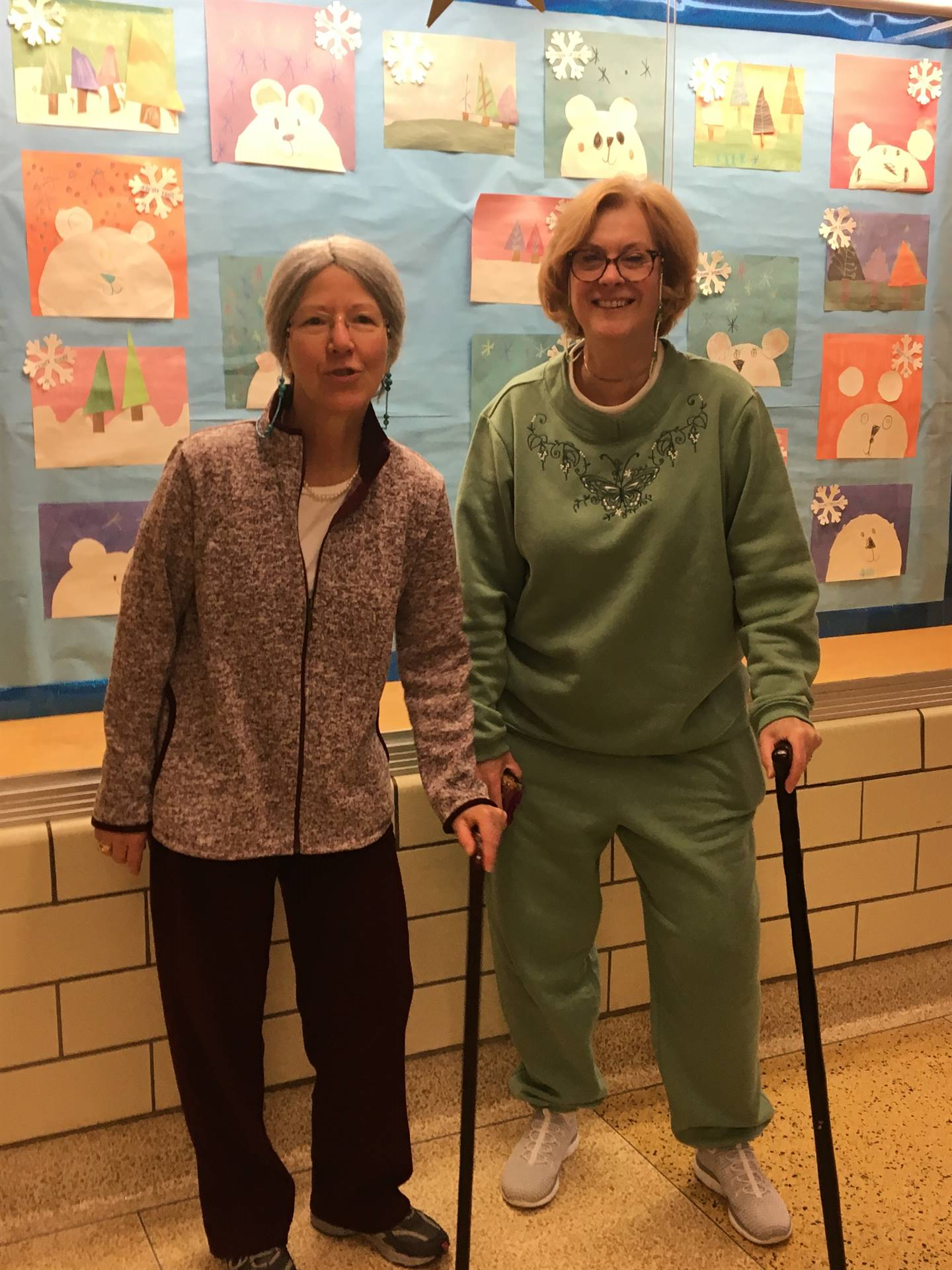 Staff members celebrate 100th Day