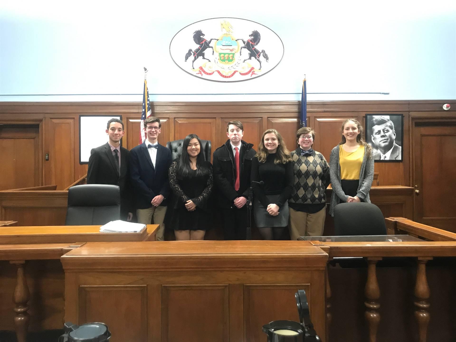 State-wide Mock trial plaintiff team