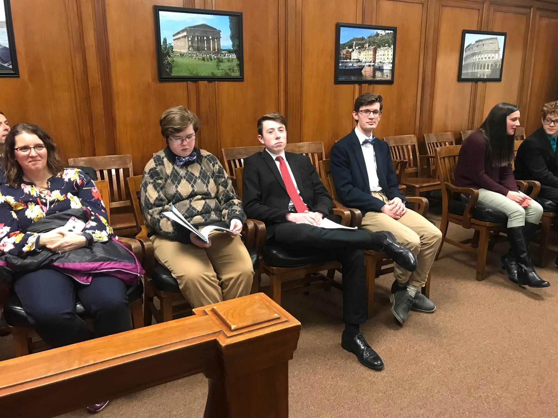 Mock Trial plaintiff team witnesses