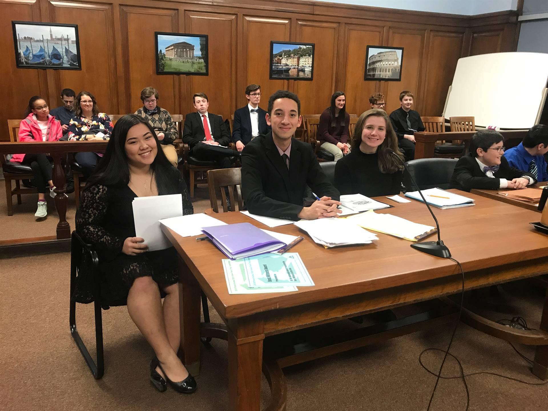 Mock trial team plaintiff attorneys
