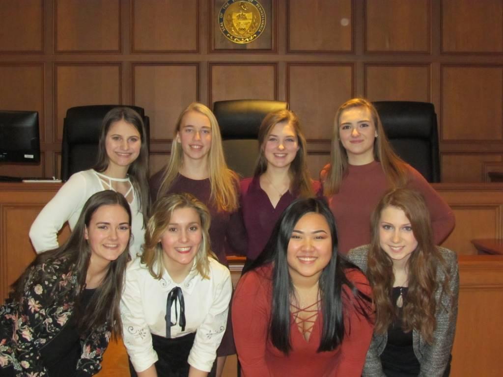 Sophomore girls defense team