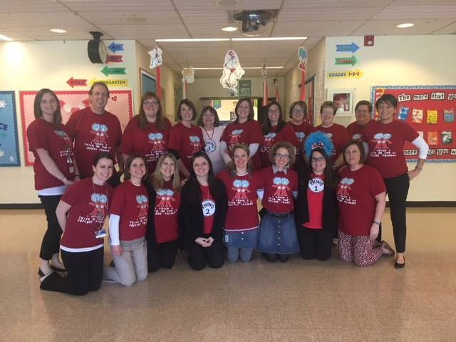 Faculty In Dr. Seuss Shirts