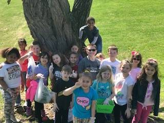 Students In Front Of Tree