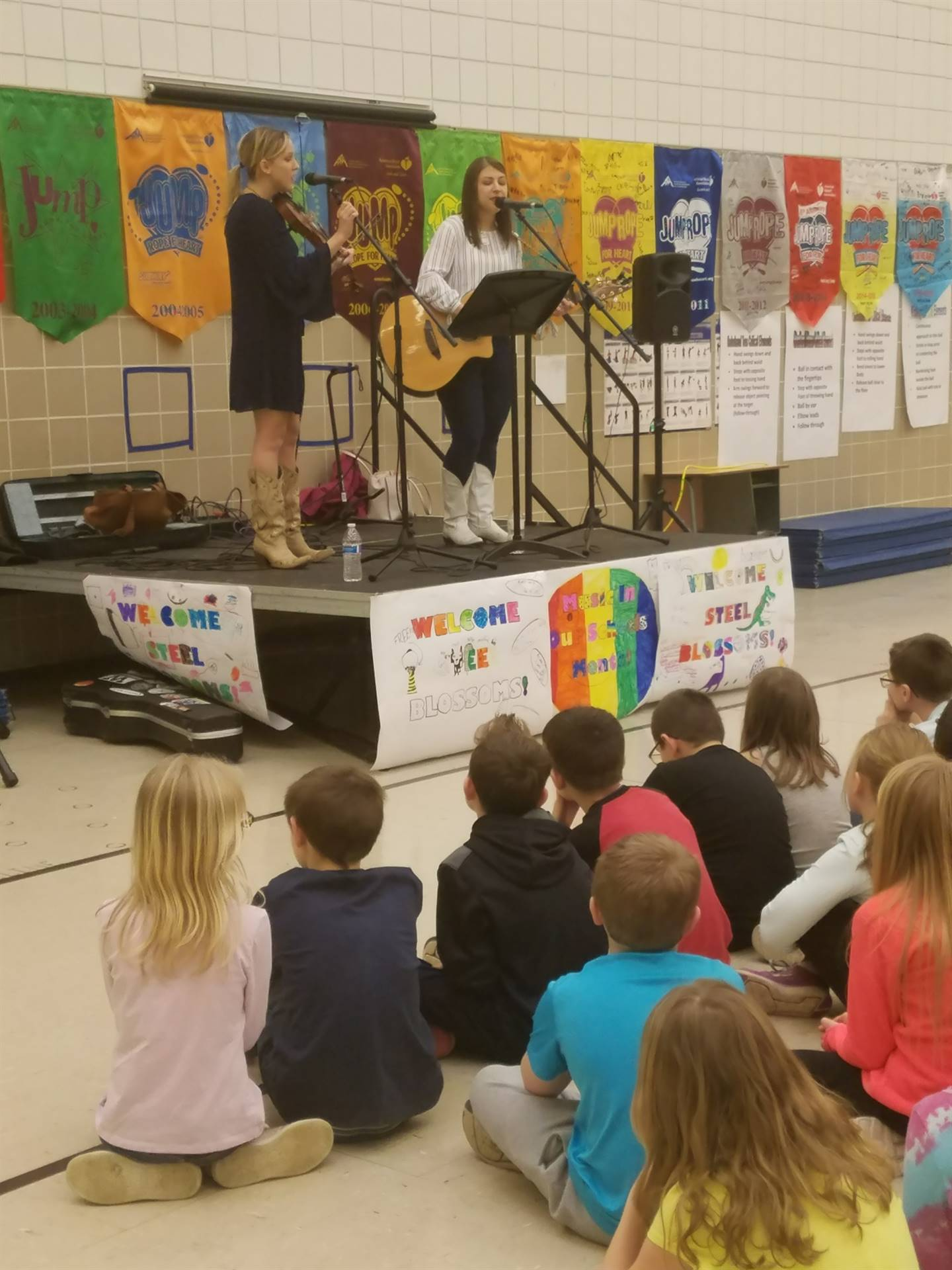 Poetry café presented during music in our schools month