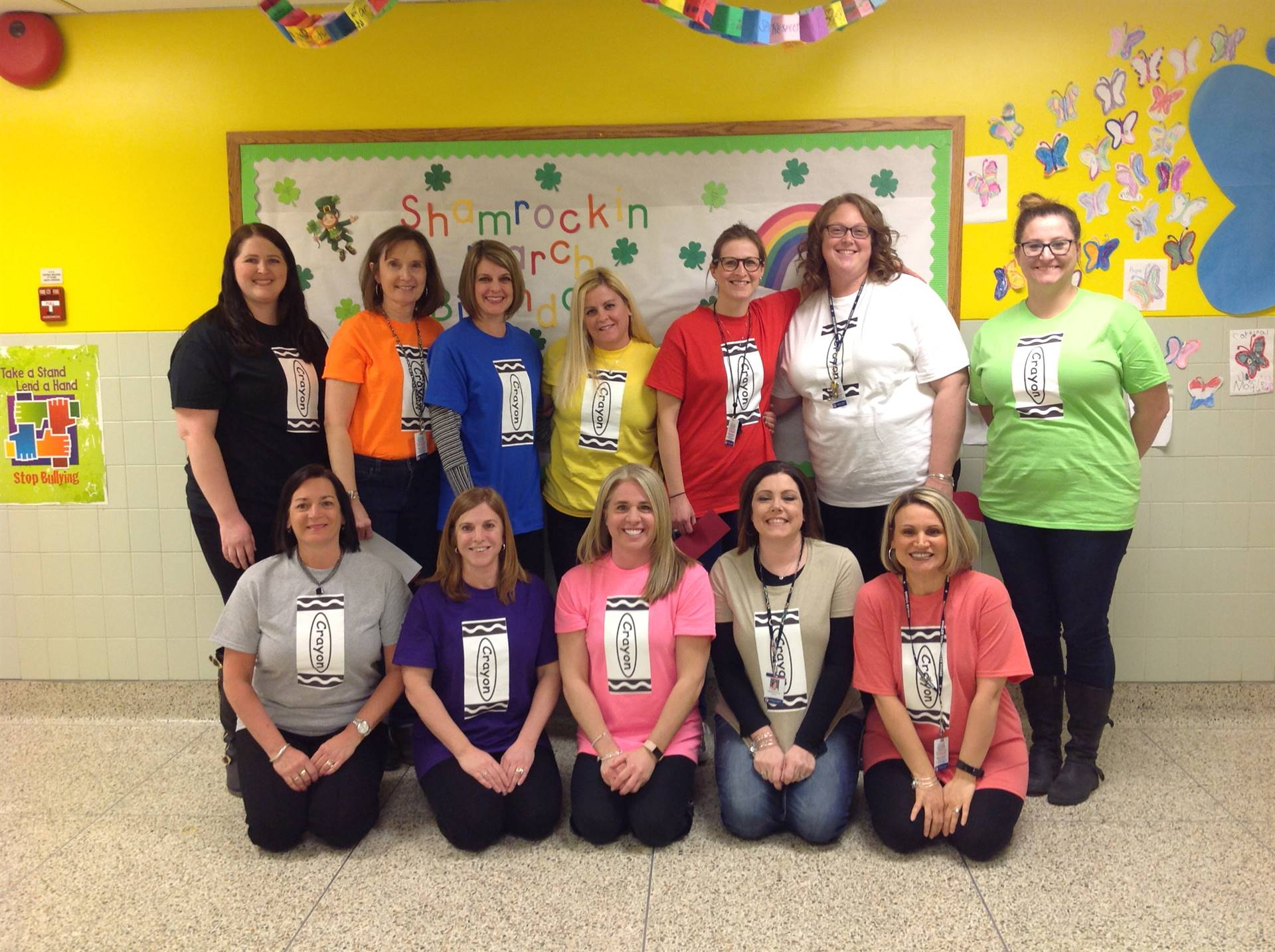 The staff crayons who acted during literacy night