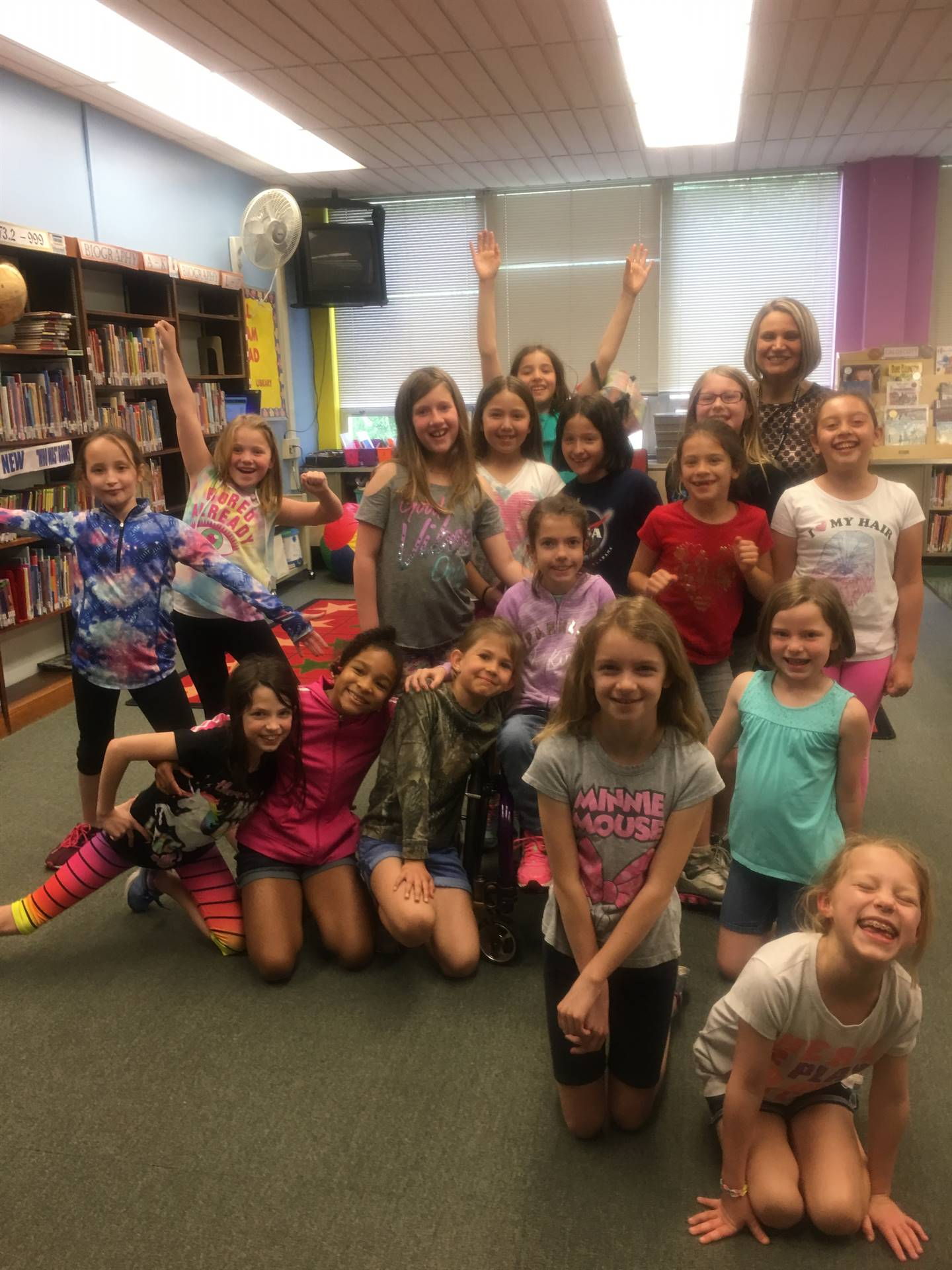 Girls rock group with Mrs. DM