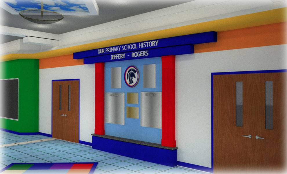 Scott Primary hallway artistic rendering