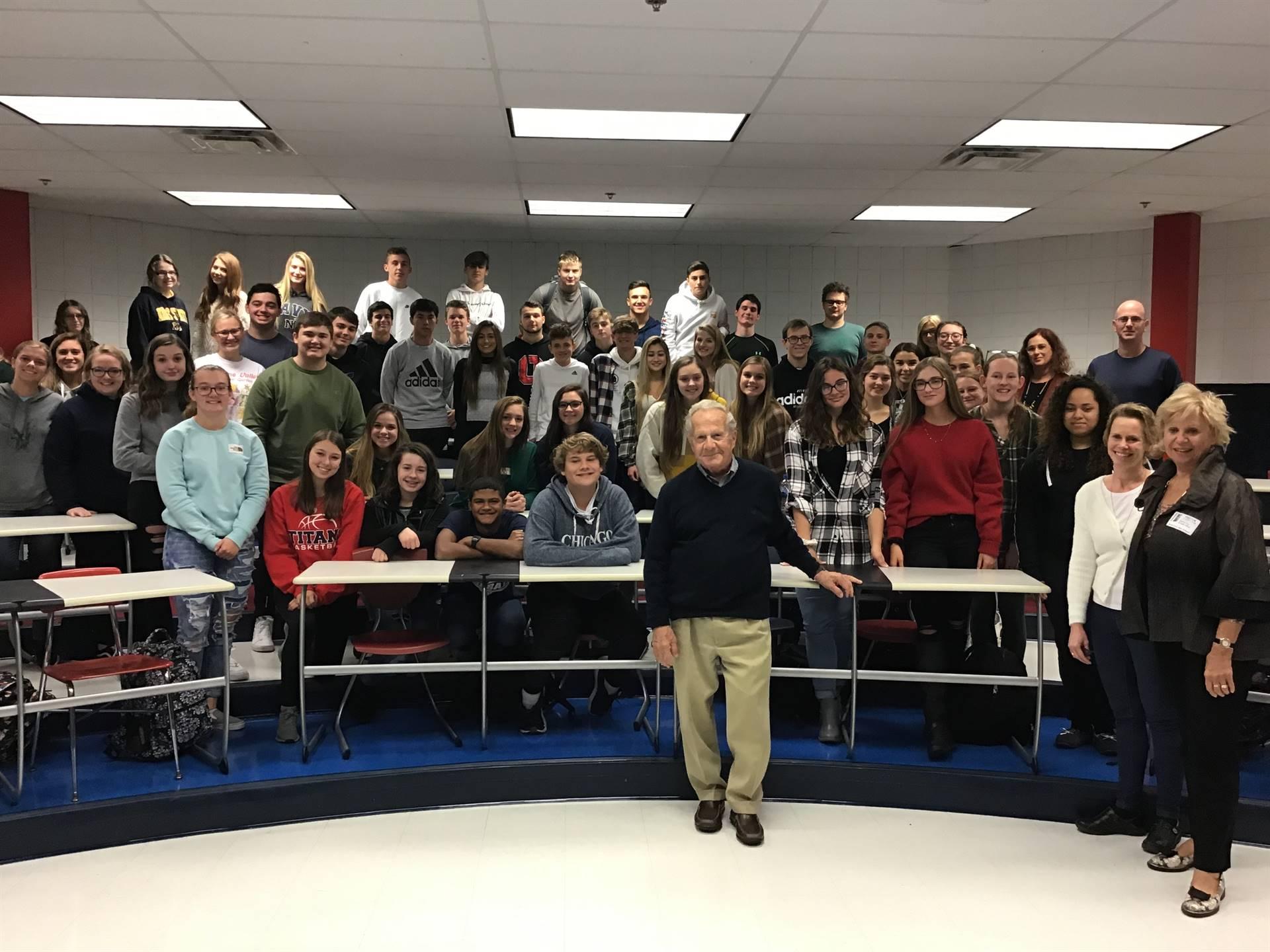 Mr. Frank Grunwald, a Holocaust survivor, shared his story with SAHS students