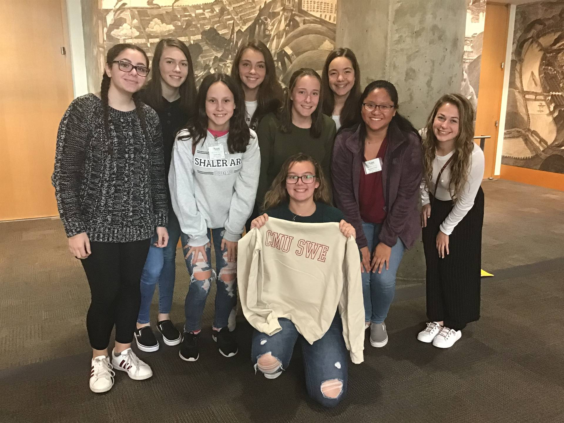 These girls learned about careers in engineering through a program at Carnegie Mellon University.