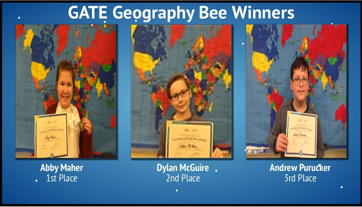 Top Three Winners of GATE Geography Bee