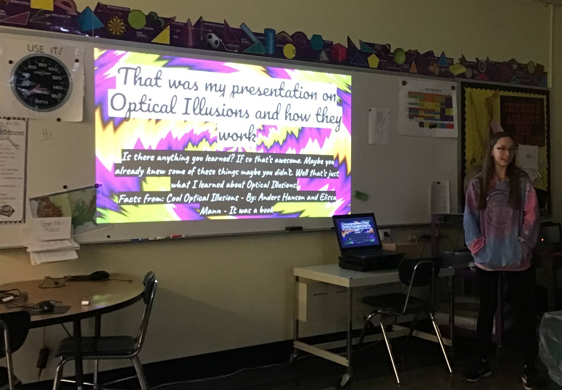6th grader presenting project