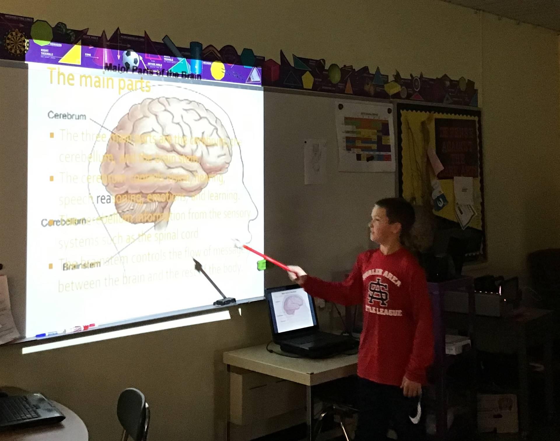 5th grader presenting