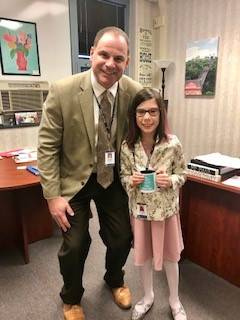 """Emma-Golightly-is-""""Principal-for-the-day""""-with Mr.-Rojik"""