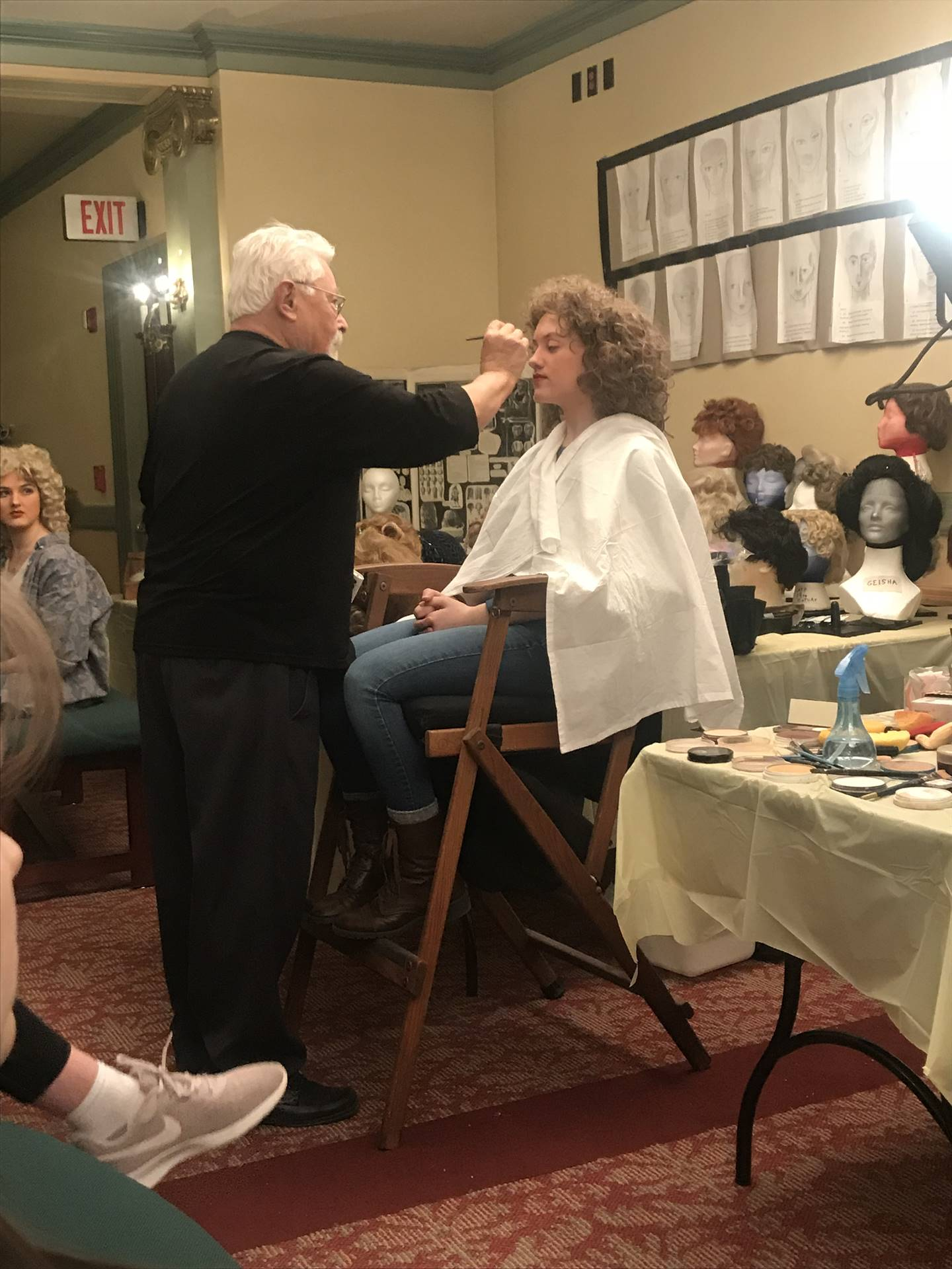 Theater arts workshop - Makeup and hair