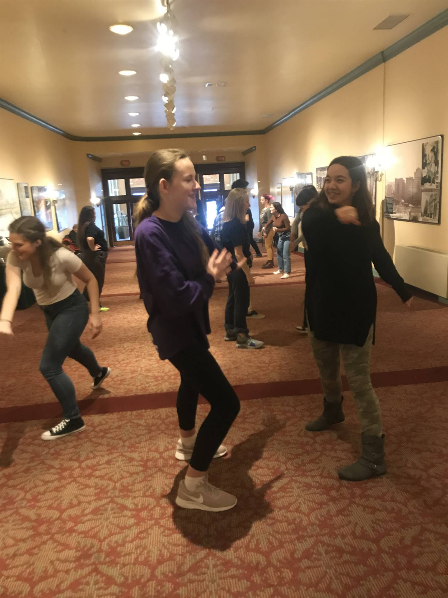 Stage combat at the theater arts workshop