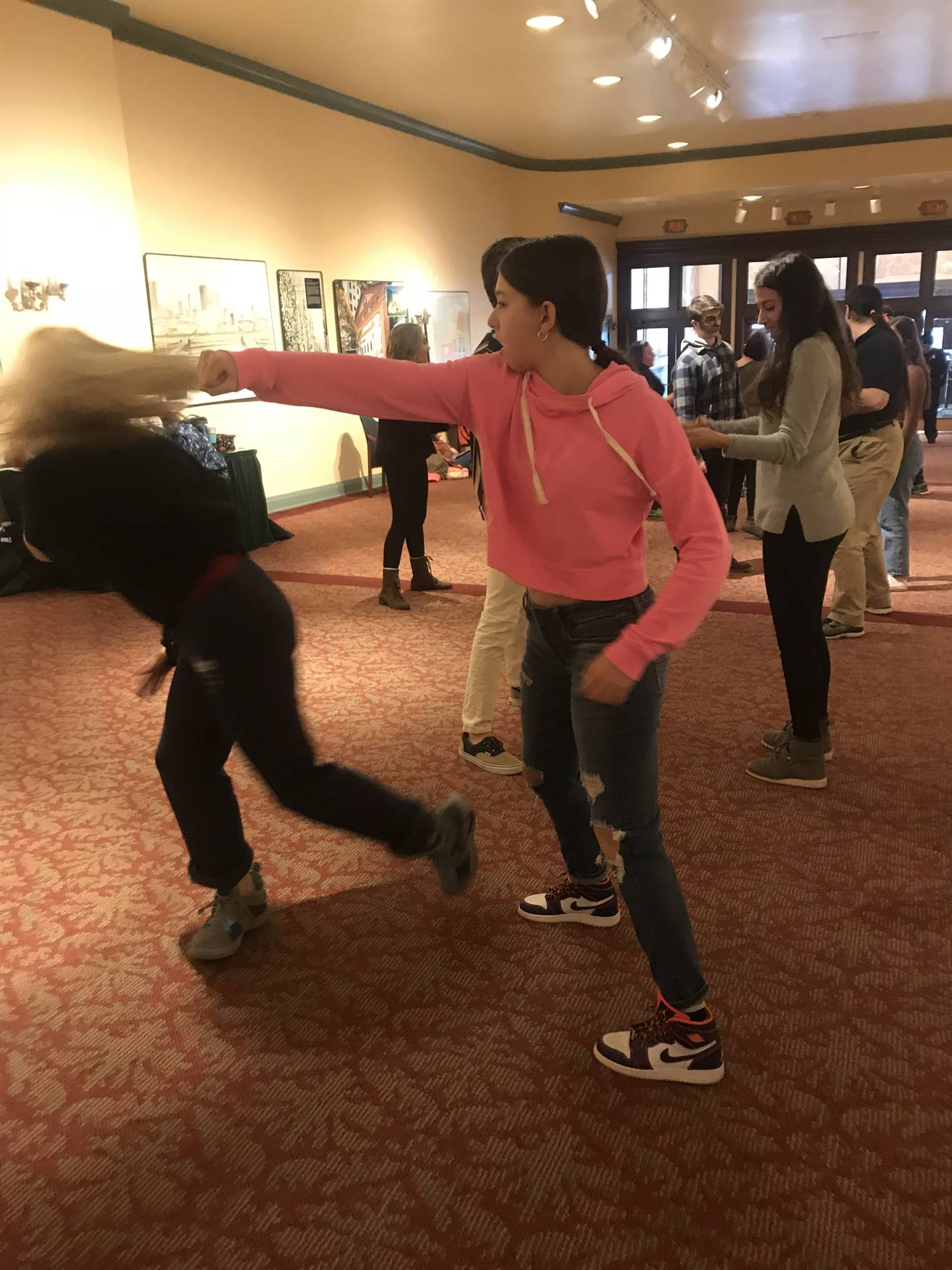 Learning to throw a punch at the theater arts workshop