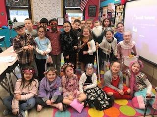 Mrs. Zillweger's-2B-celebrates-the-101th-day-of-school