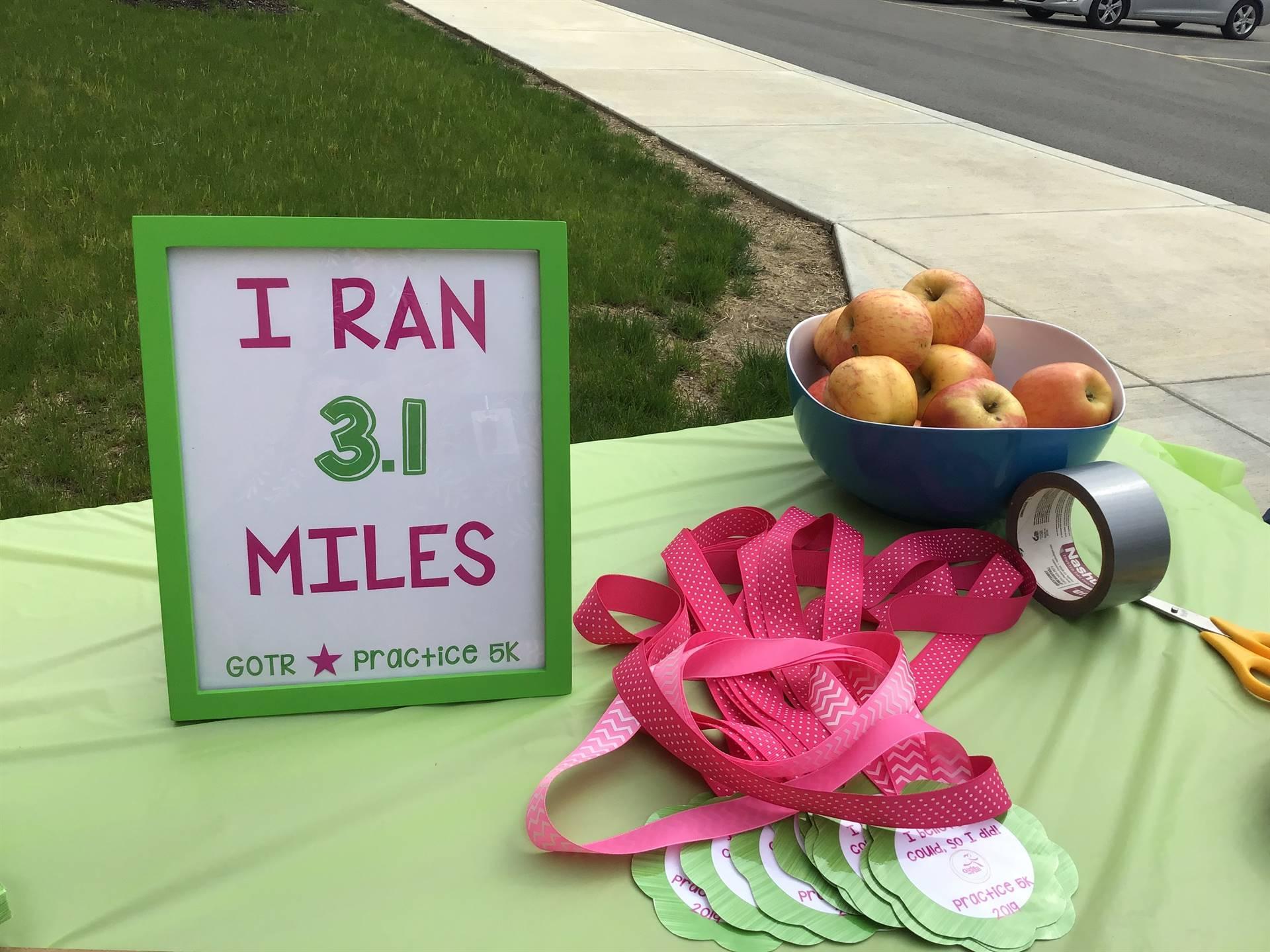 I ran 3.1 miles