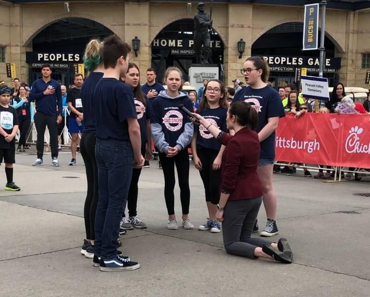 6 SAES Singers Singing at Kids of Steel Marathon