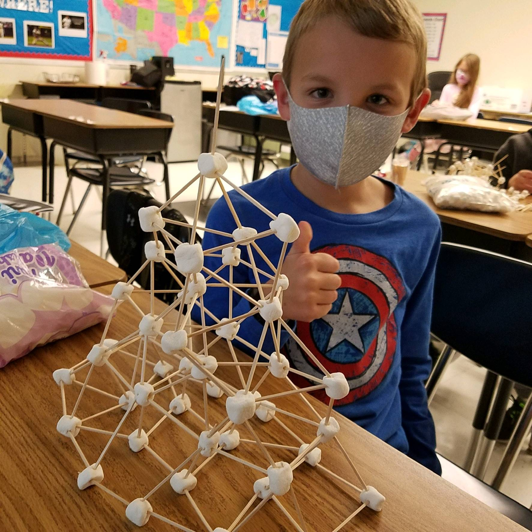4th grader marshmallow activity
