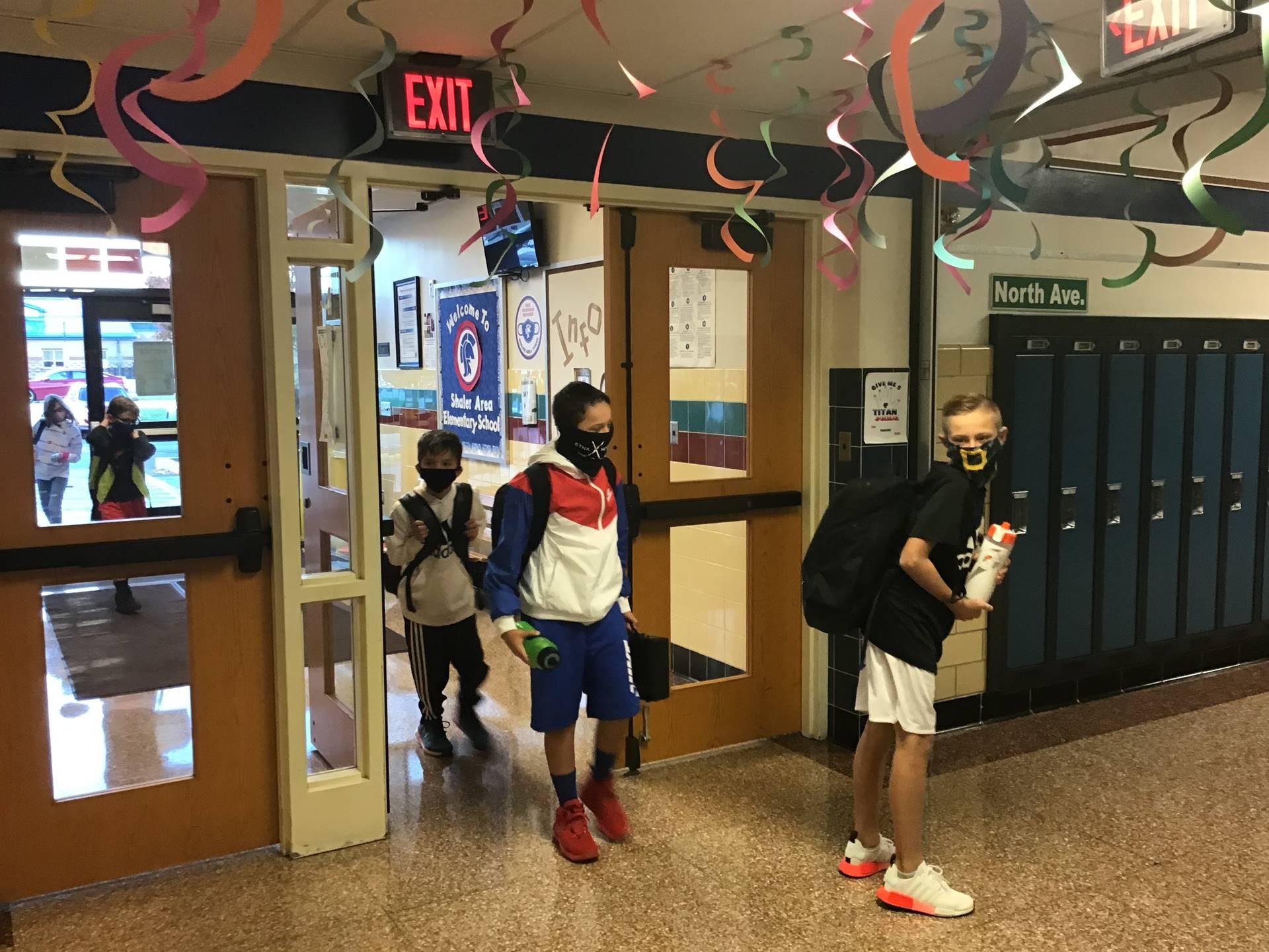 Kids entering school