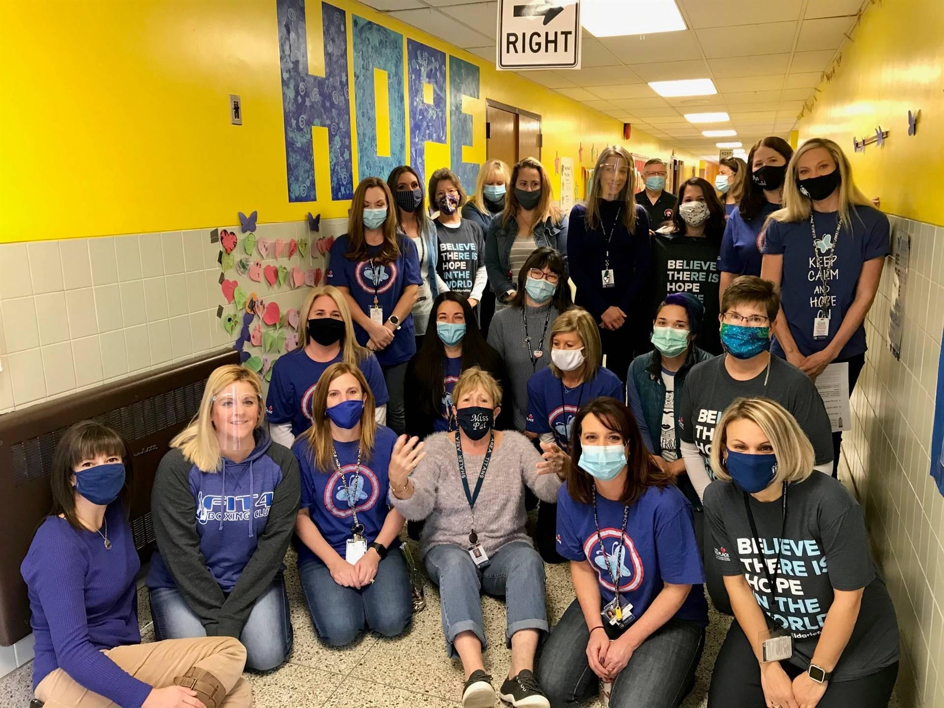 Burchfield staff honoring Children's Grief Awareness Day 2020