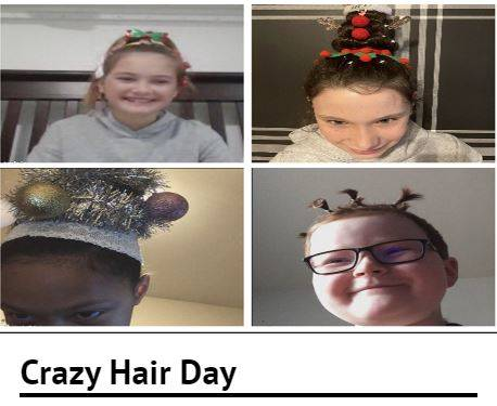 4 students with crazy hair