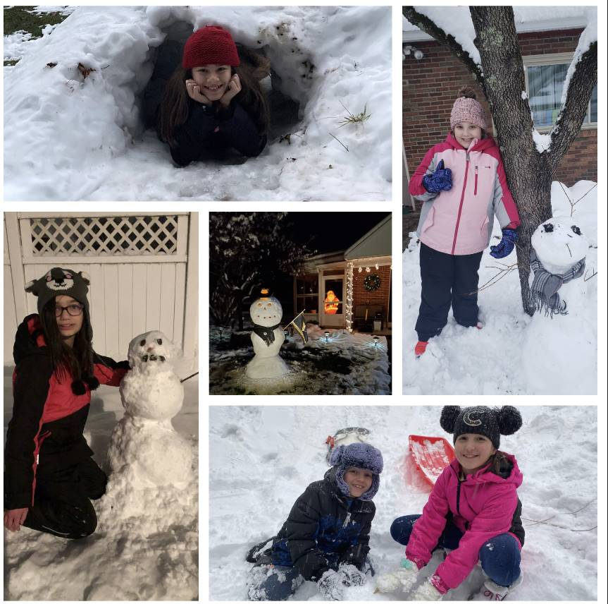 5 pictures of having fun in the snow