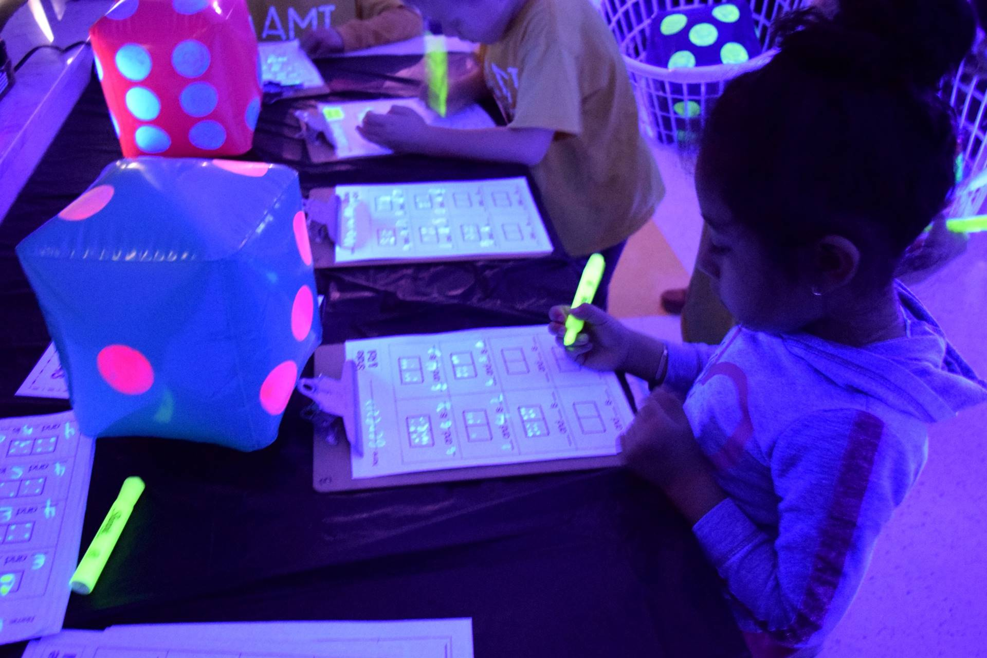 student working in Glowroom