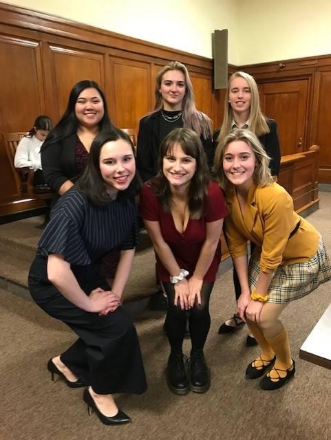 State wide mock trial plaintiff team