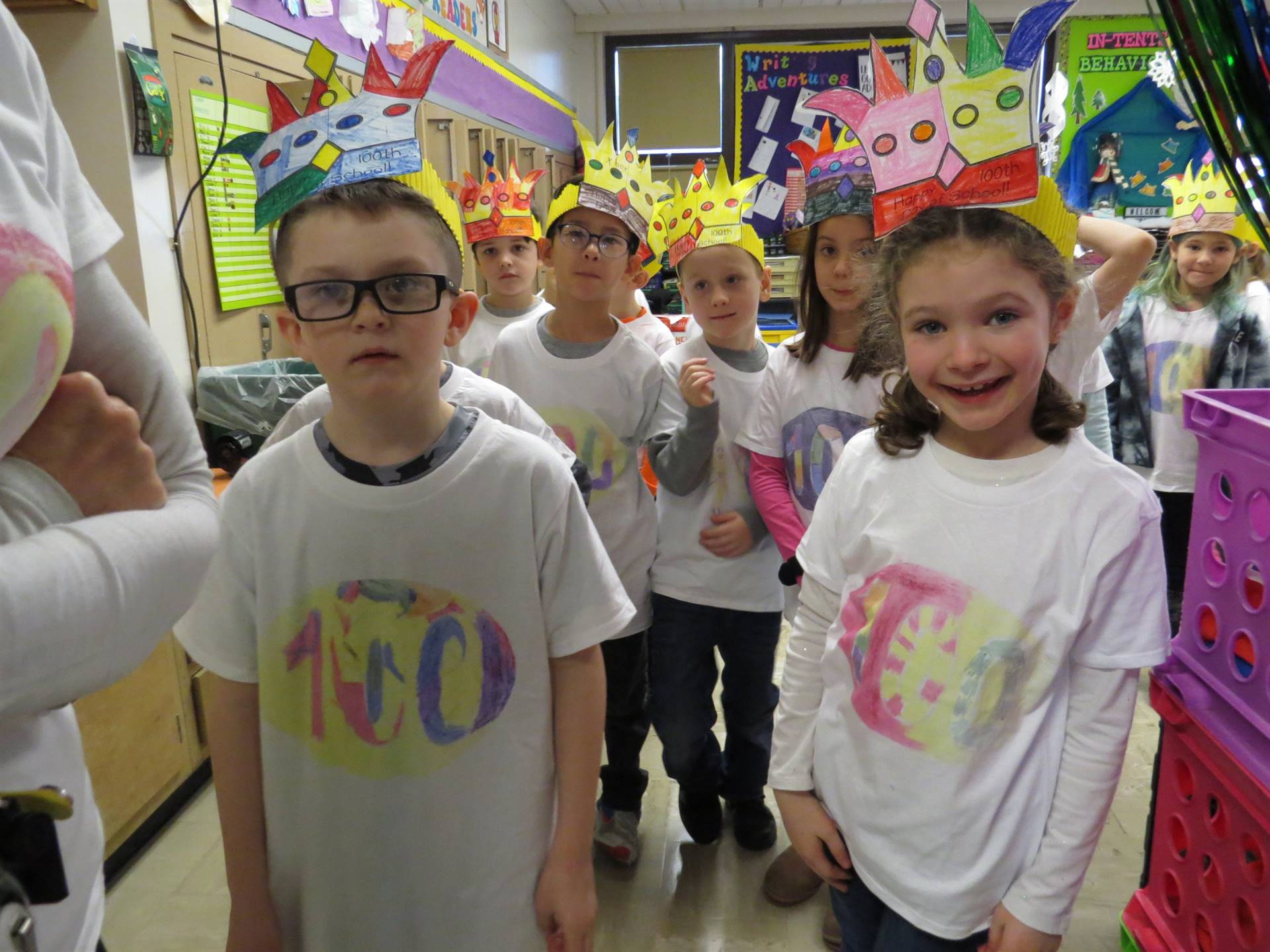 Mrs. Henne's-1A-Celebrates-the-100th-day-of-school