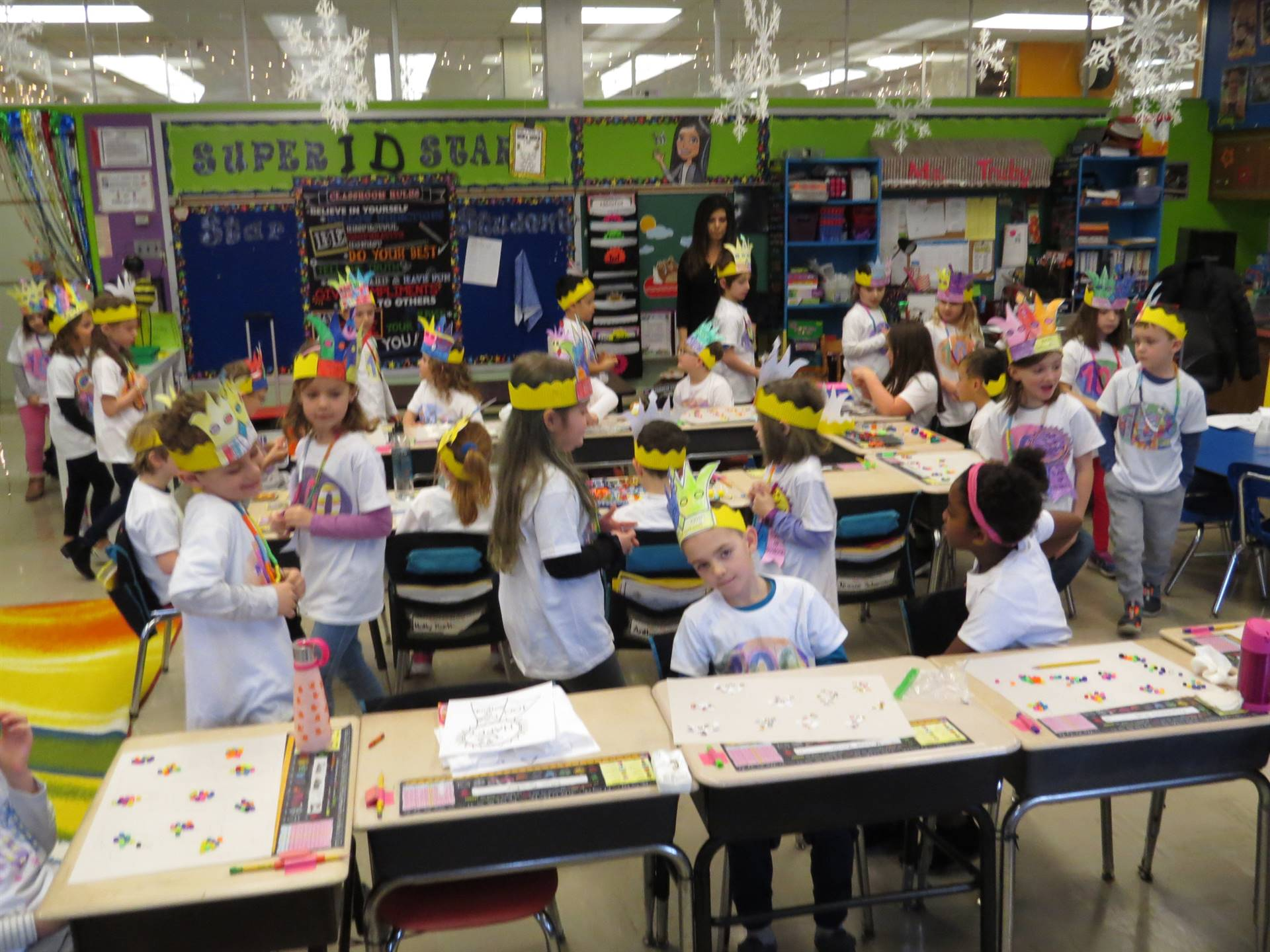 Ms. Truby's-1D-celebrates-the-100th-day-of-school
