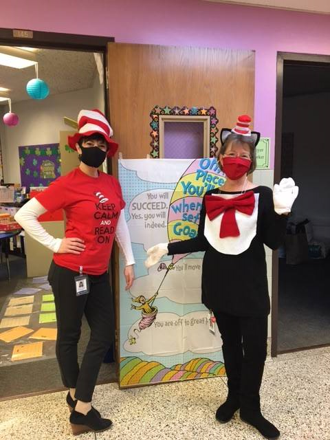 Mrs. Chappo and Mrs. Stelitano-Read Across America