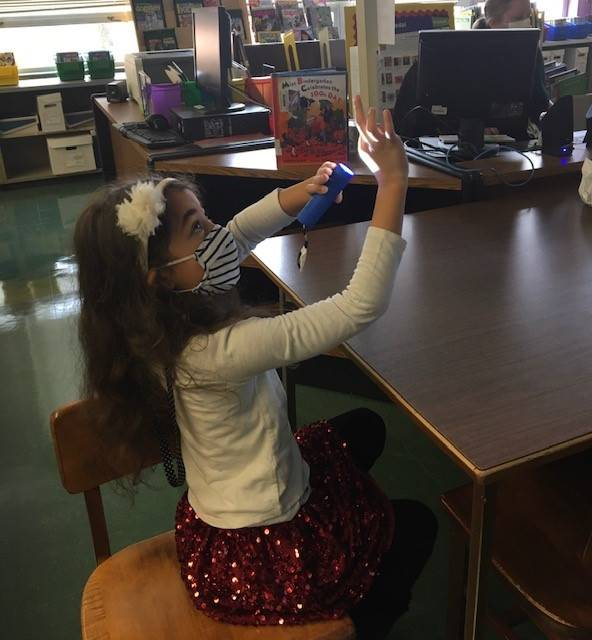 Flashlight shadowing with Dr. Drive in the Library