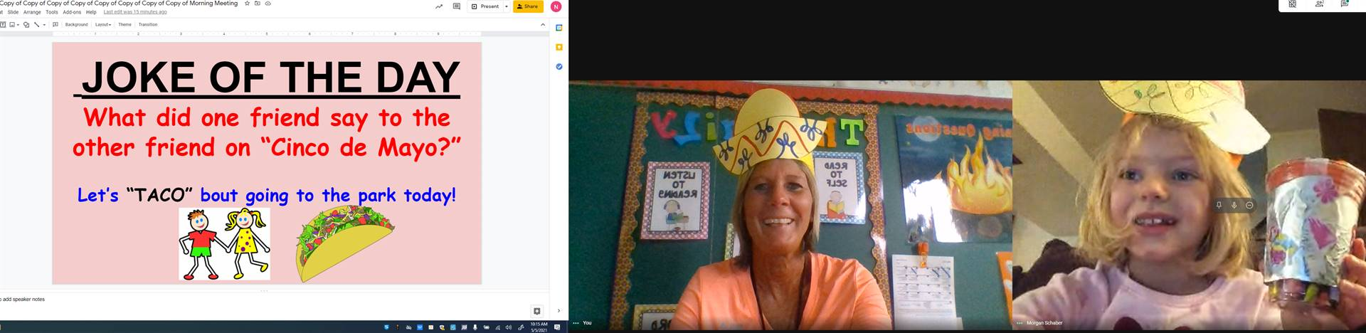 Cinco De Mayo with Mrs. Henne and 1A
