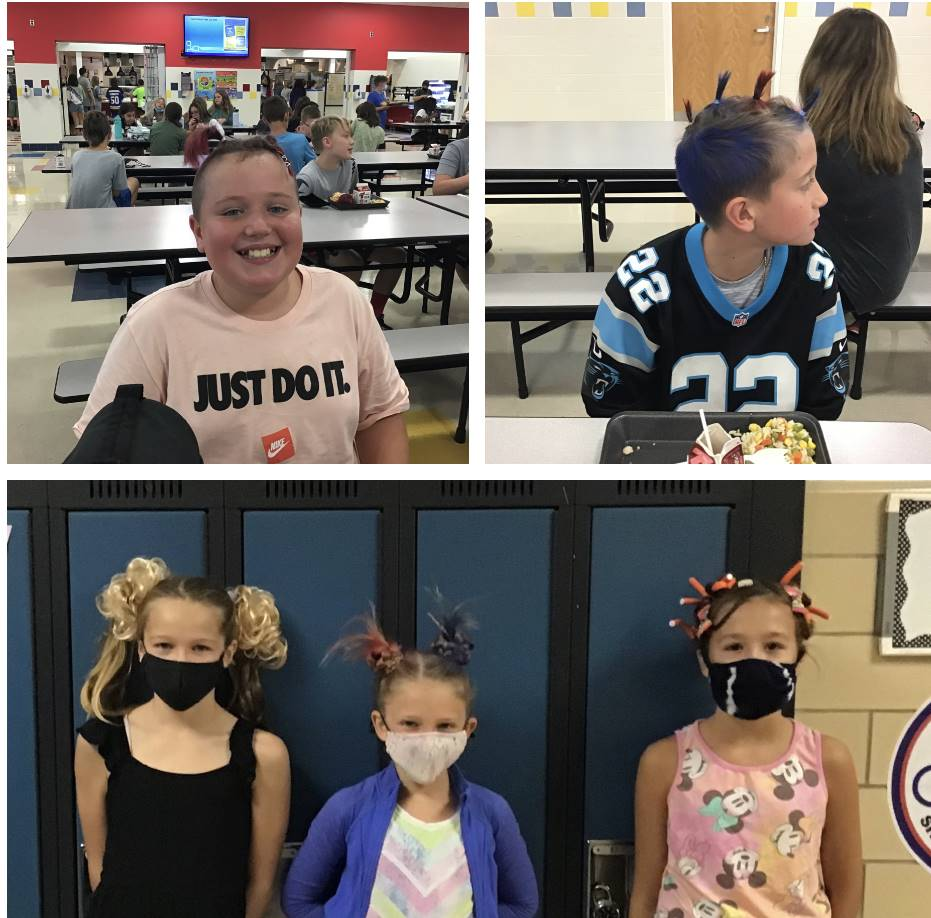 5 students with crazy hair