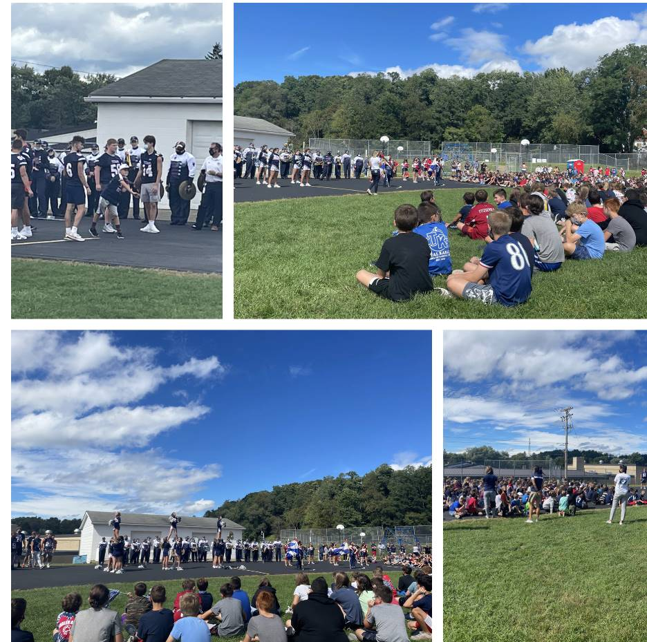 Students Outside at Pep Assembly