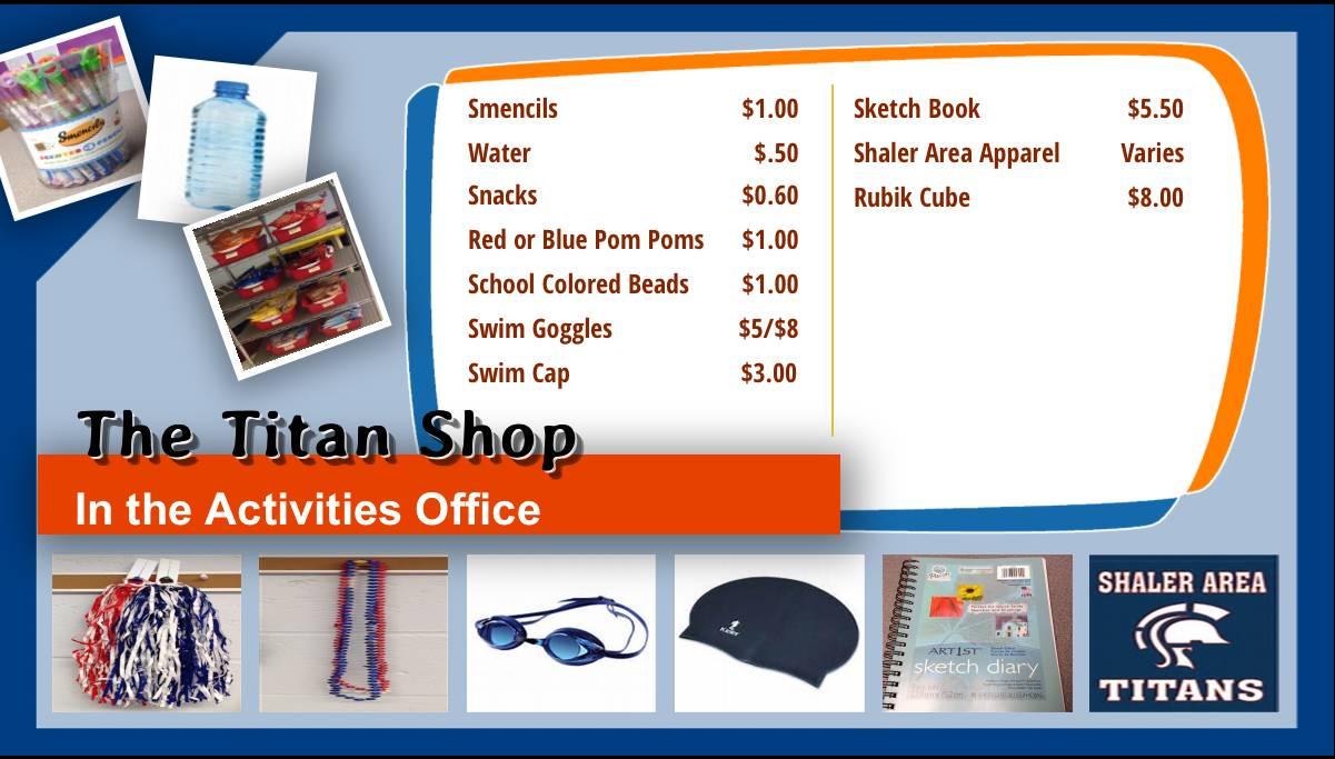 Titan Shop Menu